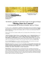 """Rising Stars in Concert"" - Lyric Opera of Chicago"
