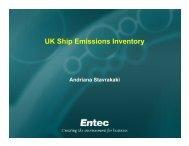 UK Ship Emissions Inventory - Andriana Stavrakaki, Entec - UK-Air