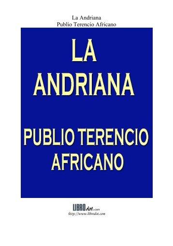 La Andriana Publio Terencio Africano - Historia Antigua