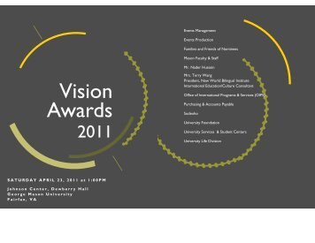 to see the 2011 Vision Awards Program - Office of Diversity ...