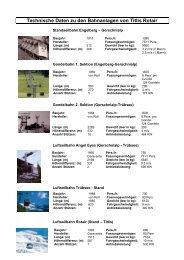 Technische Daten zu den Bahnanlagen von Titlis Rotair