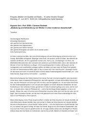 Keynote Univ.-Prof. DDDr. Clemens Sedmak - Vinzenz Gruppe