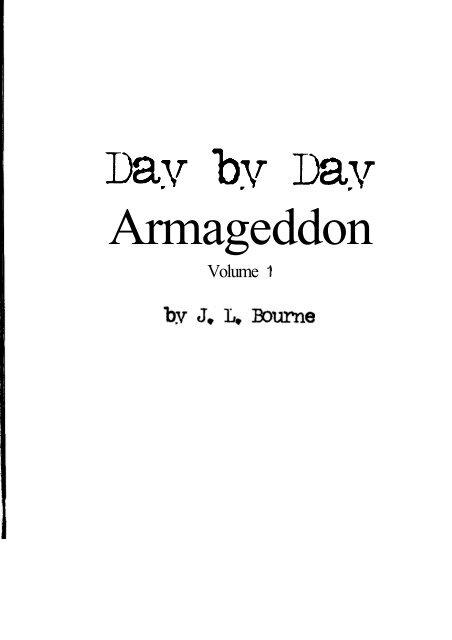 dace/J  L  Bourne - Day by Day Armageddon pdf