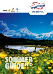 Gratis Sommerprogramm 2012. Free Summer Activities 2012 ... - Titlis