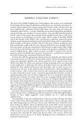 MIDDLE ENGLISH LYRICS - WW Norton & Company
