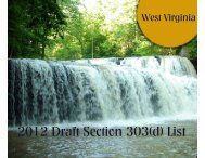2012 Section 303(d) List - WV Department of Environmental Protection