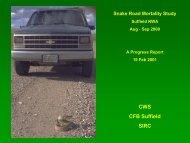 Exhibit 003-050: Snake Road Mortality Study