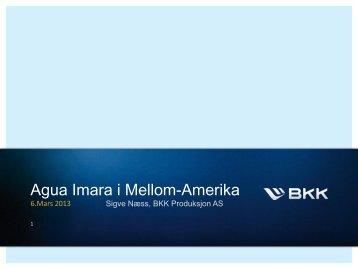 Agua Imara i Mellom-Amerika - Energi Norge