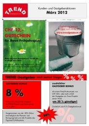 CHF 12,- GUTSCHEIN für Ihren Frühjahrsputz - TREND Products