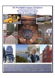The Worshipful Company of Engineers The Swordsman Newsletter ...