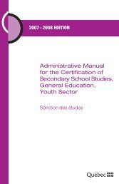 Administrative Manual for the Certification of Secondary School ...