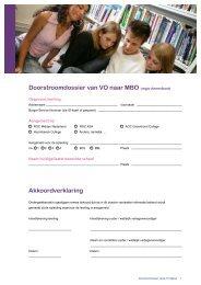 Doorstroomdossier van VO naar MBO (regio Amersfoort ...