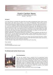 Dutch Carillon News. No 3 (April 2011) - Beiaardcentrum Nederland