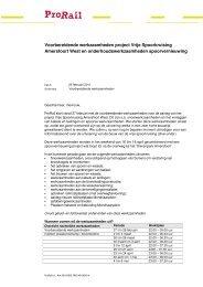 Brief werkzaamheden Amersfoort West 25022011 - ProRail