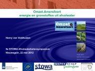 Omzet.Amersfoort energie en gronstoffen uit afvalwater - Stowa