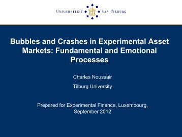 Bubbles and Crashes in Experimental Asset Markets: Fundamental ...