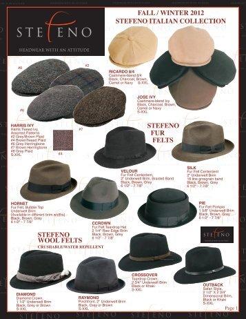 Fall 2012 - Stefeno Hats