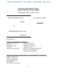Bracco Diagnostics, Inc. v. Amersham Health, Inc ... - Crowell & Moring