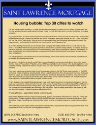 Housing bubble: Top 30 cities to watch - Saint Lawrence Mortgage