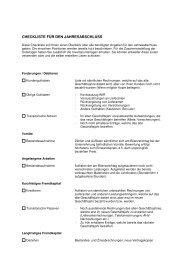 Checkliste für den Jahresabschluss - TREUHANDZENTRUM