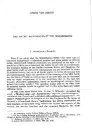 The mythic background of the Mahabharata