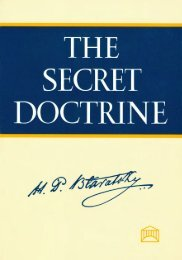 The Secret Doctrine: Index - The Theosophical Society