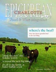 November/December 2010 - Epicurean Charlotte Food & Wine ...