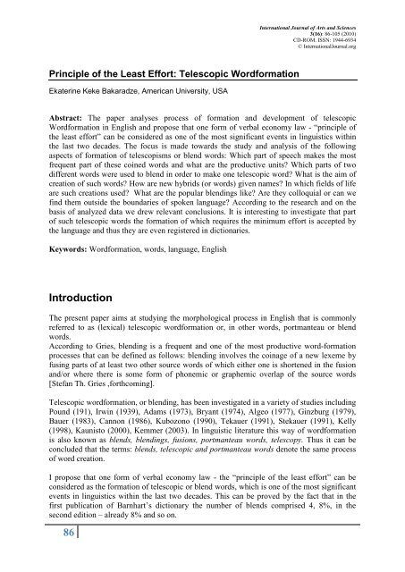 Classification of Portmanteau (or Blend) Words - An