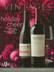 Top wines and fine bubblies for festive feasts and ... - Vintages
