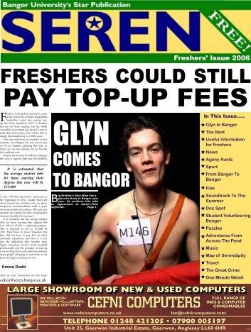 FRESHERS COULD STILL - Seren - Bangor University