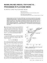 bubbling bed model for kinetic processes in fluidized beds