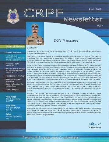 crpf news letter feb - Central Reserve Police Force