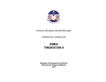 Spesifikasi Kurikulum Kimia Tingkatan 4 BM