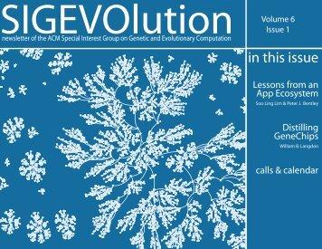 SIGEVOlution - Volume 6 Issue 1