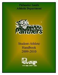 Student-Athlete Handbook 2009-2010 - Philander Smith College