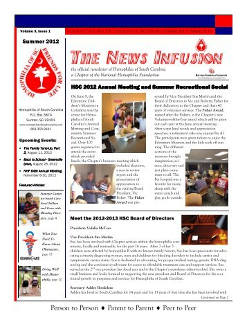 The News Infusion - Summer 2012.pub - Hemophilia of South Carolina