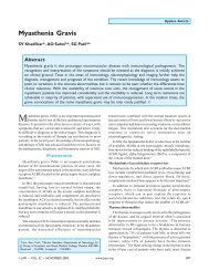 Myasthenia Gravis - Journal of the Association of Physicians of India
