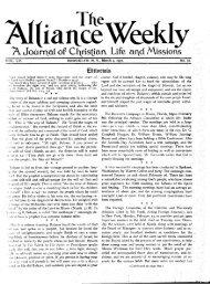 AL[iane Weekly - Christian and Missionary Alliance