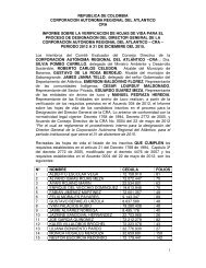 informe de verificacion de requisitos - Corporación Autónoma ...