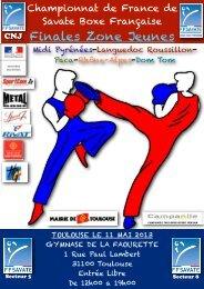 Finales Zone Jeunes - Ligue Rhône-Alpes de Savate Boxe Française