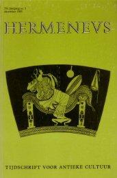 HERMENEUS jrg 57-1985 nummer 5 - Tresoar