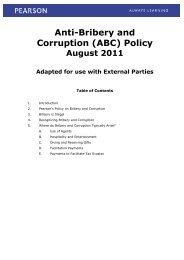 Anti-Bribery and Corruption (ABC) Policy - Pearson