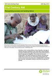 21st Century Aid - Oxfam International