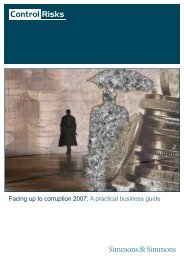 Facing up to corruption 2007: A practical business guide - Global ...