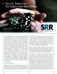 The U.K. Bribery Act: The Stakes Have Been ... - Stout Risius Ross
