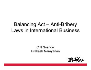 Balancing Act – Anti-Bribery Laws in International Business