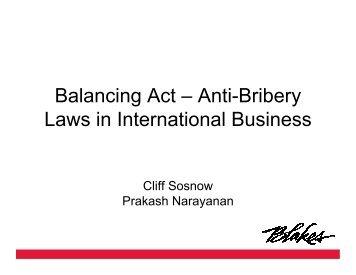 Balancing Act – Anti-Bribery Laws in International Business