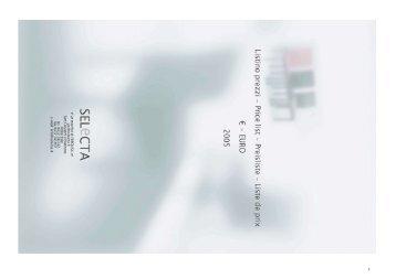 Listino SELECTA 2005(1) - TRIGON OBJEKT GmbH