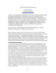 From Plato's Good to Platonic God.pdf - University of Toronto