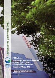 Dichiarazione Ambientale 2011 - Il Termovalorizzatore di Trezzo sull ...